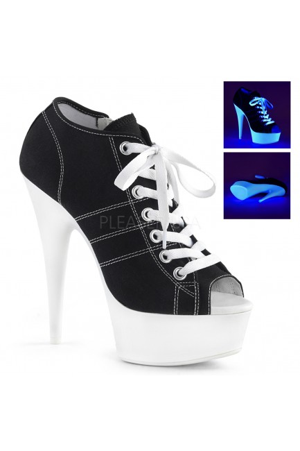 Black High Heel Peep Toe Sneaker at Sensual Elegance Fashion, Lingerie and Shoes, Women's Very Sexy Lingerie & Clothing - Clubwear, Bridal Lingerie & Plus Size Lingerie