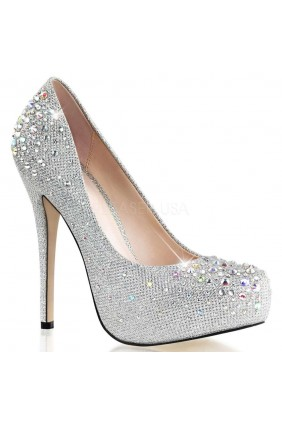 Destiny Silver Rhinestone Embellished Pumps Sensual Elegance Fashion, Lingerie and Shoes Women's Very Sexy Lingerie & Clothing - Clubwear, Bridal Lingerie & Plus Size Lingerie