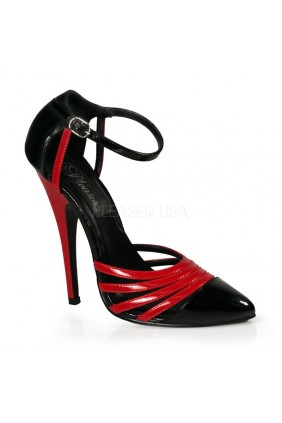 Domino High Heel Red and Black D-Orsay Pump Sensual Elegance Fashion, Lingerie and Shoes Women's Sexy Clothing & Lingerie - Clubwear, Plus Size Clothing & Accessories