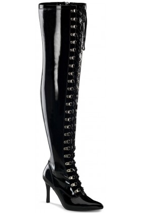 Dominatrix Wide Width Black Thigh High Boots Sensual Elegance Fashion, Lingerie and Shoes Women's Sexy Clothing & Lingerie - Clubwear, Plus Size Clothing & Accessories