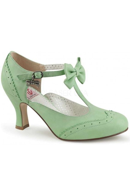 Flapper Mint Green T-Strap Bow Pump at Sensual Elegance Fashion, Lingerie and Shoes, Women's Sexy Clothing & Lingerie - Clubwear, Plus Size Clothing & Accessories
