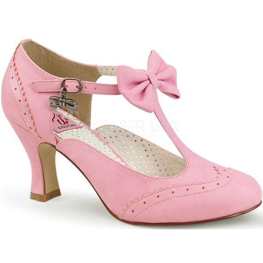 flapper pink kitten heel t strap pump 3 inch heel retro women shoe. Black Bedroom Furniture Sets. Home Design Ideas