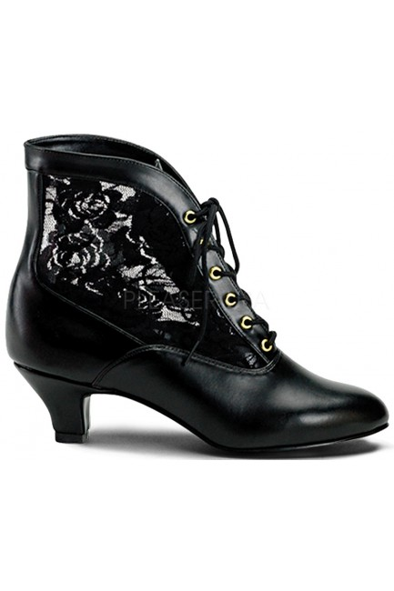 Victorian Dame Black Ankle Boot at Sensual Elegance Fashion, Lingerie and Shoes, Women's Sexy Clothing & Lingerie - Clubwear, Plus Size Clothing & Accessories