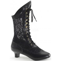 Victorian Dame Black Lace Boot
