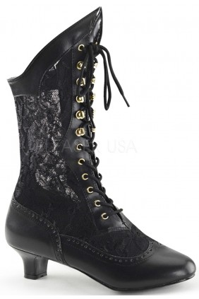 Victorian Dame Black Lace Boot Sensual Elegance Fashion, Lingerie and Shoes Women's Very Sexy Lingerie & Clothing - Clubwear, Bridal Lingerie & Plus Size Lingerie