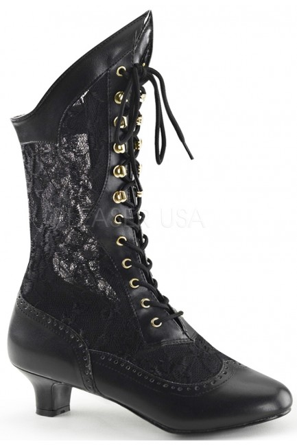 Victorian Dame Black Lace Boot at Sensual Elegance Fashion, Lingerie and Shoes, Women's Sexy Clothing & Lingerie - Clubwear, Plus Size Clothing & Accessories