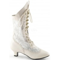 Victorian Dame Ivory Lace Boot