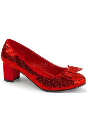 Dorothy Red Sequin 2 Inch Heel Pump Sensual Elegance Fashion, Lingerie and Shoes Women's Sexy Clothing & Lingerie - Clubwear, Plus Size Clothing & Accessories