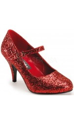 Glinda Red Glittered Mary Jane Pump