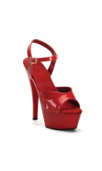 Juliet Red Platform Sandal with 6 Inch Heel