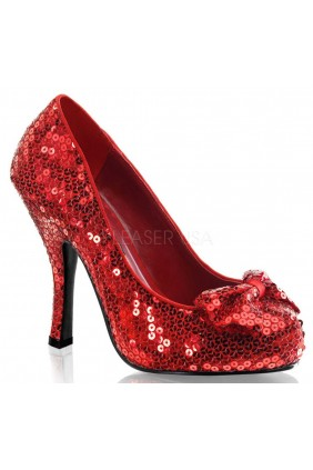 Oz Red Sequin High Heel Pump Sensual Elegance Fashion, Lingerie and Shoes Women's Sexy Clothing & Lingerie - Clubwear, Plus Size Clothing & Accessories