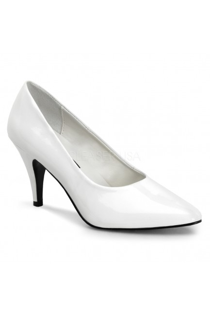 White Classic Pump 420 with 3 Inch Heel at Sensual Elegance Fashion, Lingerie and Shoes, Women's Sexy Clothing & Lingerie - Clubwear, Plus Size Clothing & Accessories