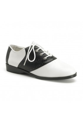 Saddle Shoe Black and White Womens Flat Oxford Sensual Elegance Fashion, Lingerie and Shoes Women's Sexy Clothing & Lingerie - Clubwear, Plus Size Clothing & Accessories