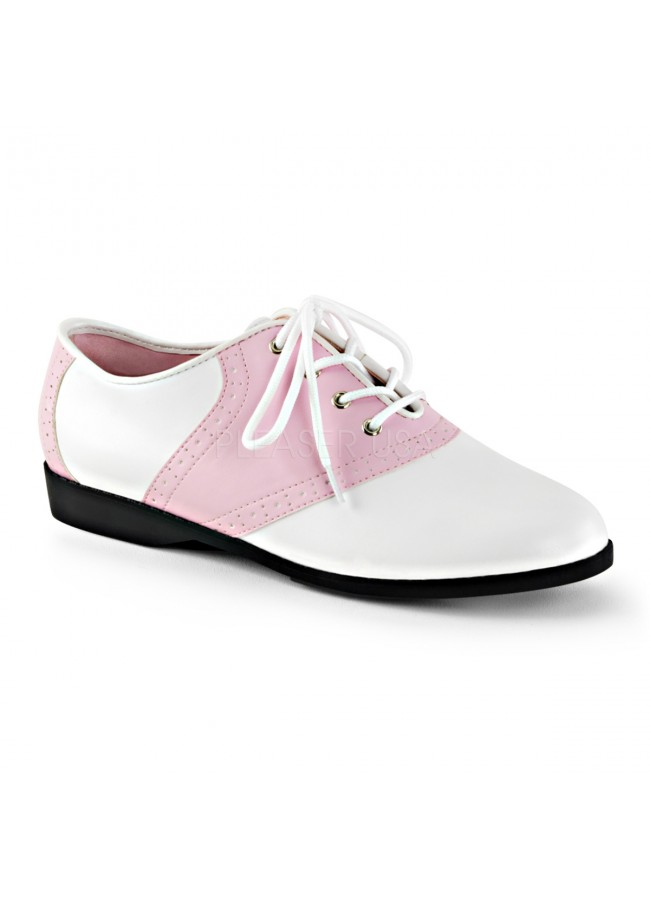 Saddle Shoe Pink and White Womens