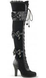 Glam Victorian Lace Gothic Over the Knee Boot