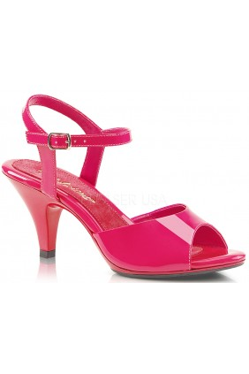 Hot Pink Belle 3 Inch Heel Sandal Sensual Elegance Fashion, Lingerie and Shoes Women's Sexy Clothing & Lingerie - Clubwear, Plus Size Clothing & Accessories