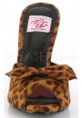Monroe Leopard Print Slide with Bow at Sensual Elegance Fashion, Lingerie and Shoes, Women's Sexy Clothing & Lingerie - Clubwear, Plus Size Clothing & Accessories