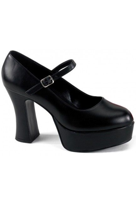 Black Mary Jane Square Heeled Pump at Sensual Elegance Fashion, Lingerie and Shoes, Women's Sexy Clothing & Lingerie - Clubwear, Plus Size Clothing & Accessories