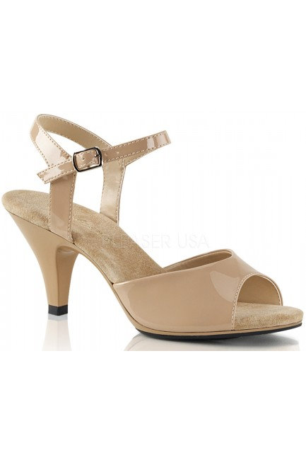 Nude Belle 3 Inch Heel Sandal at Sensual Elegance Fashion, Lingerie and Shoes, Women's Sexy Clothing & Lingerie - Clubwear, Plus Size Clothing & Accessories