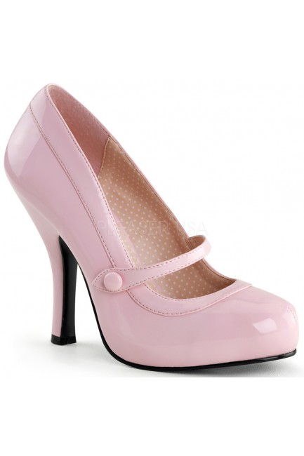 Cutie Pie Baby Pink Mary Jane Pin Up Pumps at Sensual Elegance Fashion, Lingerie and Shoes, Women's Sexy Clothing & Lingerie - Clubwear, Plus Size Clothing & Accessories
