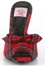Monroe Red Plaid Slide with Bow at Sensual Elegance Fashion, Lingerie and Shoes, Women's Sexy Clothing & Lingerie - Clubwear, Plus Size Clothing & Accessories