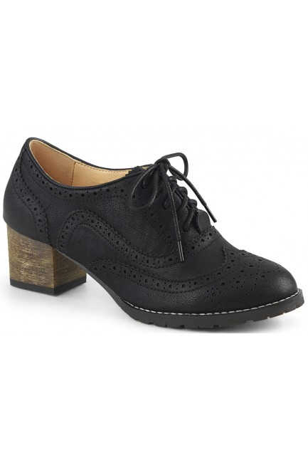 Russell Womens Wingtip Oxford in Black at Sensual Elegance Fashion, Lingerie and Shoes, Women's Sexy Clothing & Lingerie - Clubwear, Plus Size Clothing & Accessories