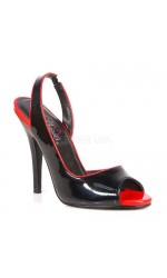 Red and Black Seduce Slingback Pump