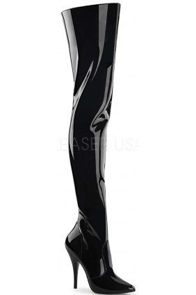 Pretty Woman Seduce Black Patent Thigh High Boots Sensual Elegance Fashion, Lingerie and Shoes Women's Sexy Clothing & Lingerie - Clubwear, Plus Size Clothing & Accessories