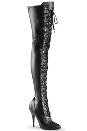 Seduce Lace Up Thigh High Boots Sensual Elegance Fashion, Lingerie and Shoes Women's Sexy Clothing & Lingerie - Clubwear, Plus Size Clothing & Accessories