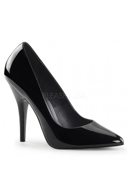 Black 5 Inch Heel Seduce Stiletto Pump at Sensual Elegance Fashion, Lingerie and Shoes, Women's Sexy Clothing & Lingerie - Clubwear, Plus Size Clothing & Accessories