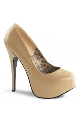 Teeze Tan Matte Platform Pump Sensual Elegance Fashion, Lingerie and Shoes Women's Sexy Clothing & Lingerie - Clubwear, Plus Size Clothing & Accessories