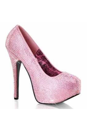 Teeze Baby Pink Rhinestone Platform Pump Sensual Elegance Fashion, Lingerie and Shoes Women's Sexy Clothing & Lingerie - Clubwear, Plus Size Clothing & Accessories