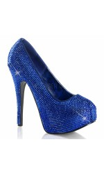 Teeze Royal Blue Rhinestone Platform Pump