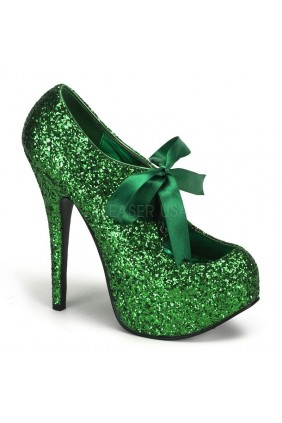 Teeze Green Glittered Platform Pump Sensual Elegance Fashion, Lingerie and Shoes Women's Sexy Clothing & Lingerie - Clubwear, Plus Size Clothing & Accessories