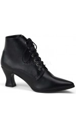 Black Victorian Ankle Bootie