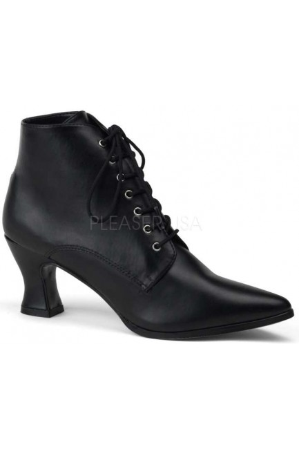 Black Victorian Ankle Bootie at Sensual Elegance Fashion, Lingerie and Shoes, Women's Sexy Clothing & Lingerie - Clubwear, Plus Size Clothing & Accessories