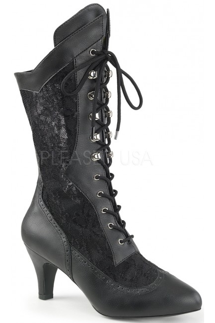 Divine Wide Width Black Victorian Platform Boot at Sensual Elegance Fashion, Lingerie and Shoes, Women's Sexy Clothing & Lingerie - Clubwear, Plus Size Clothing & Accessories