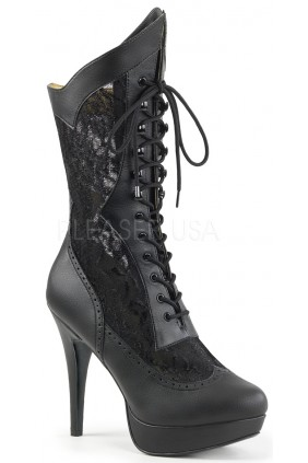 Chloe Wide Width Black Victorian Platform Boot Sensual Elegance Fashion, Lingerie and Shoes Women's Sexy Clothing & Lingerie - Clubwear, Plus Size Clothing & Accessories