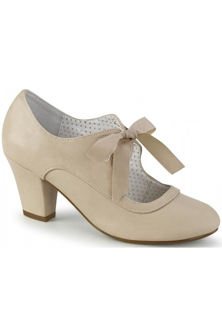 Wiggle Vintage Style Mary Jane Shoe in Beige at Sensual Elegance Fashion, Lingerie and Shoes, Women's Sexy Clothing & Lingerie - Clubwear, Plus Size Clothing & Accessories