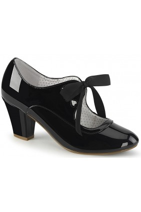 Wiggle Vintage Style Mary Jane Shoe in Black Patent Sensual Elegance Fashion, Lingerie and Shoes Women's Sexy Clothing & Lingerie - Clubwear, Plus Size Clothing & Accessories
