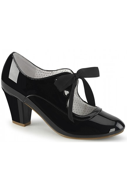 Wiggle Vintage Style Mary Jane Shoe in Black Patent at Sensual Elegance Fashion, Lingerie and Shoes, Women's Sexy Clothing & Lingerie - Clubwear, Plus Size Clothing & Accessories
