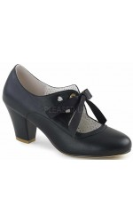 Wiggle Vintage Style Mary Jane Shoe in Black