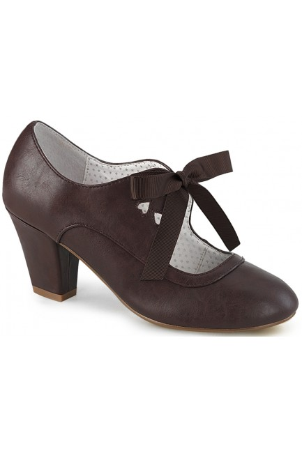 Wiggle Vintage Style Mary Jane Shoe in Dark Brown at Sensual Elegance Fashion, Lingerie and Shoes, Women's Sexy Clothing & Lingerie - Clubwear, Plus Size Clothing & Accessories