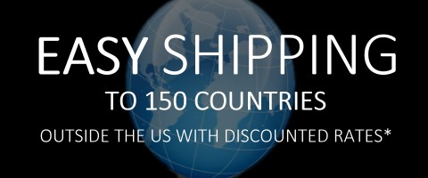 easy delivery outside the us to 150 countries